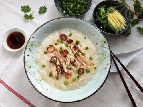 Chicken scallop congee