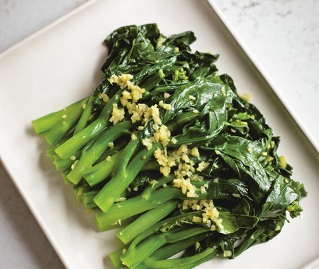 boiled Chinese broccoli